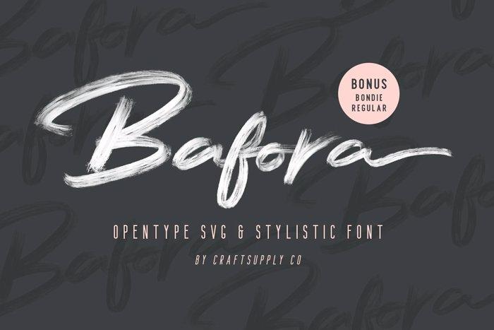 Bafora Font poster