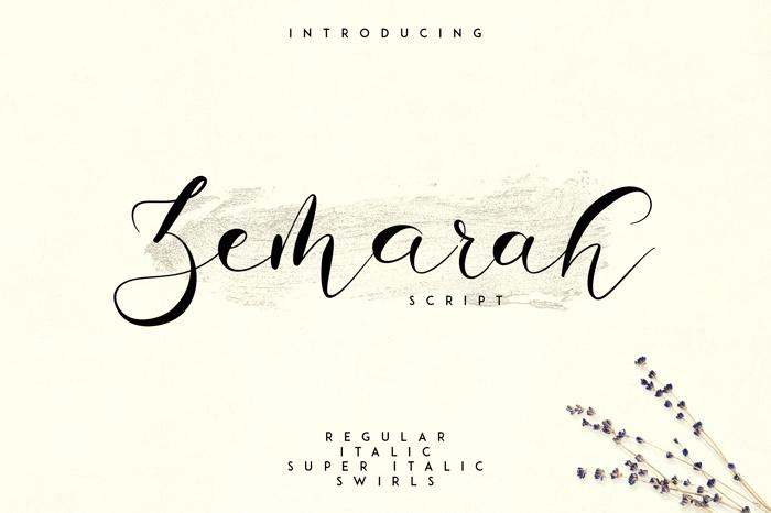 ZEMARAH SCRIPT Font poster