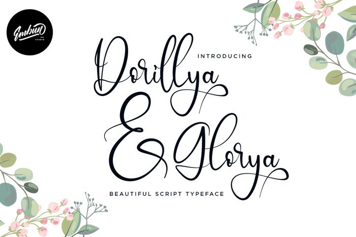 Dorillya Font poster
