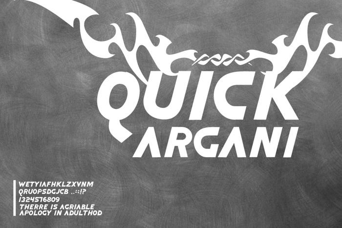Quick Argani Font poster