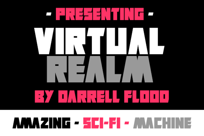 Virtual Realm Font poster