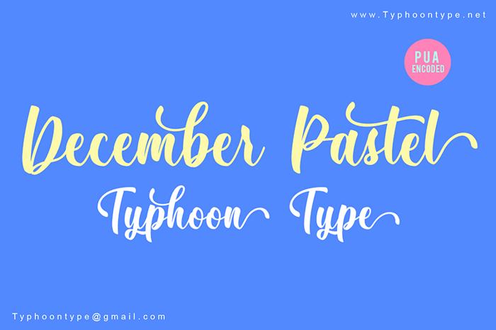 December Pastel Font poster