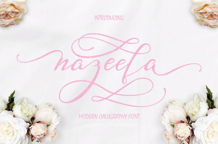 Nazeefa Font poster