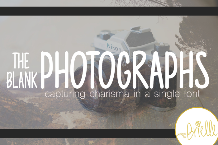 Photographs Font poster