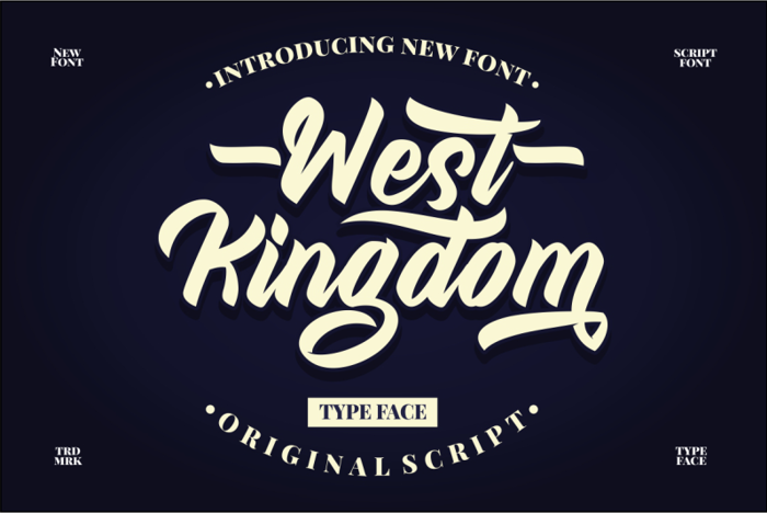 West Kingdom Font poster