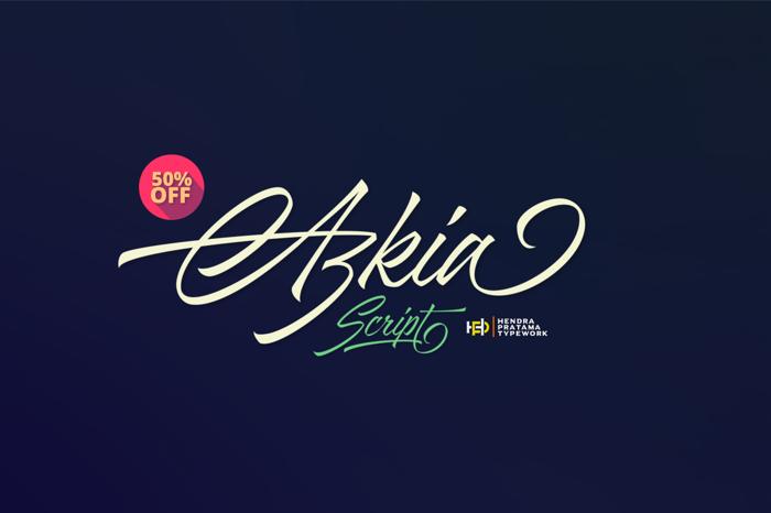 Azkia Demo Font poster
