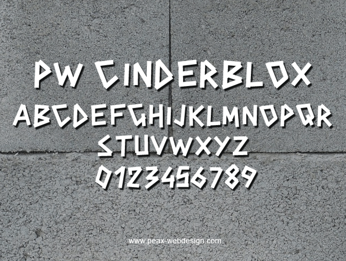 PWCINDERBLOX Font poster