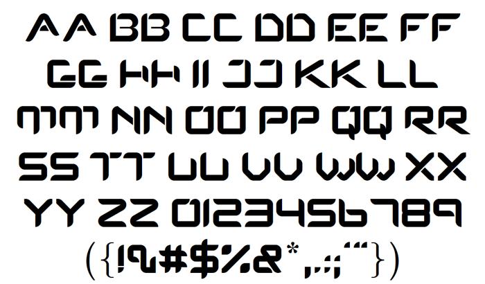 Protos Font poster