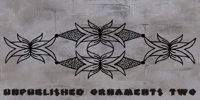 Unpublished Ornaments Two Font poster