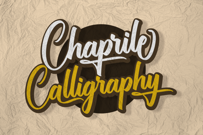 Chaprile Calligraphy Font poster