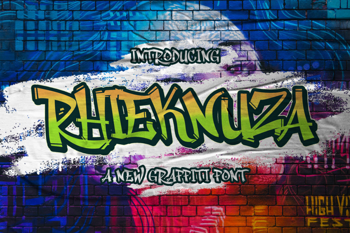 Rhieknuza Font poster