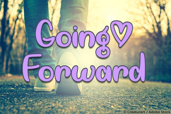 Going Forward Font poster