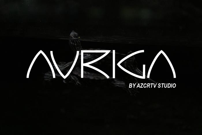 Auriga Font poster