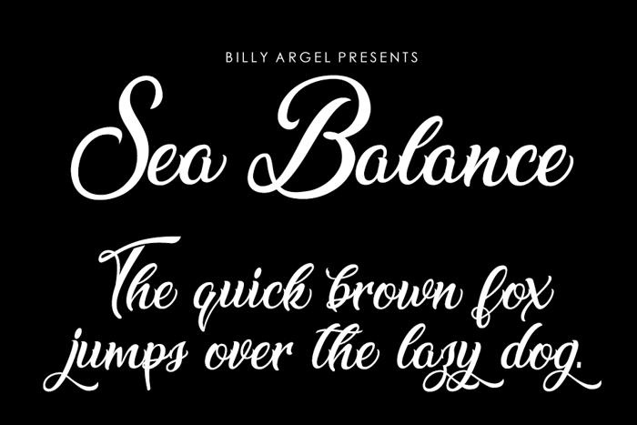 Sea Balance Font
