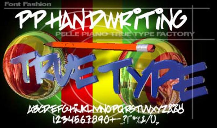 PP Handwriting Font poster
