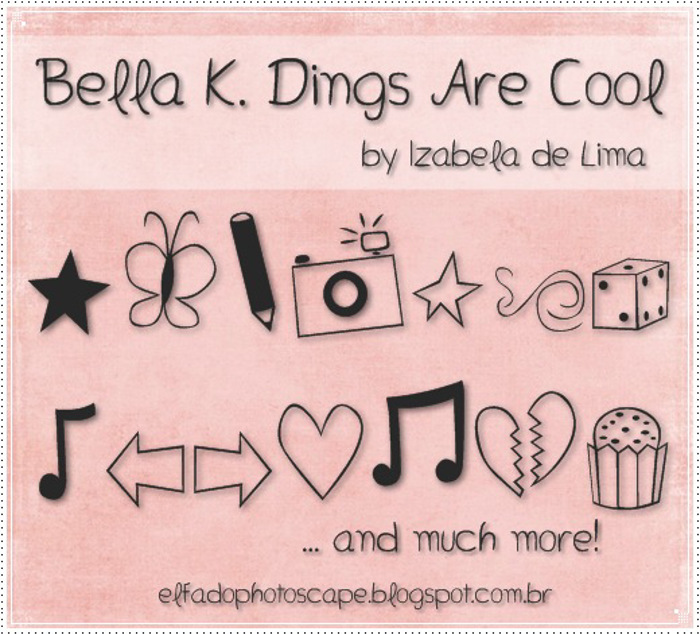 Bella K. Dings Are Cool Font poster