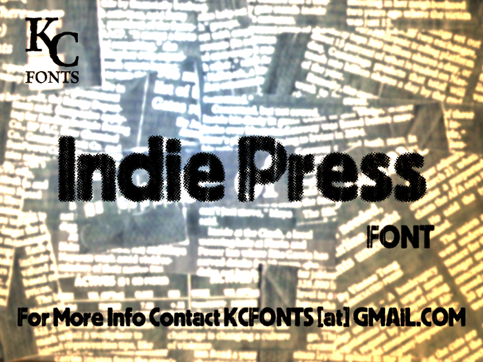 Indie Press Font poster