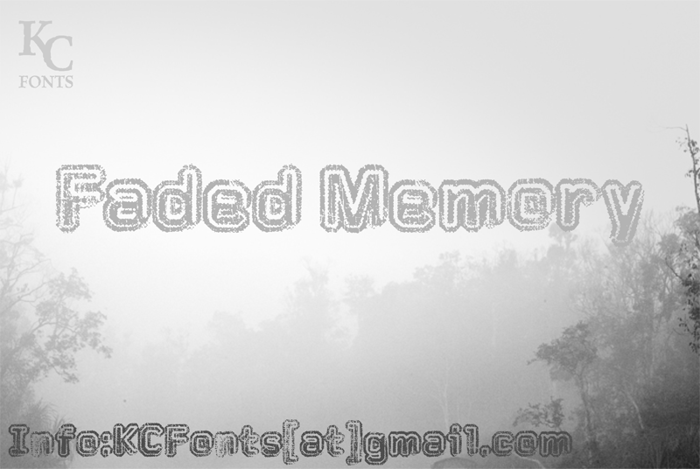 Faded Memory Font poster
