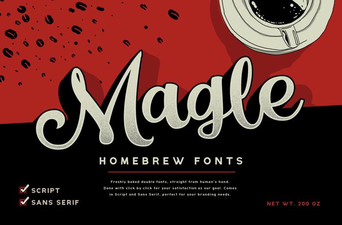 Magle Script Font poster