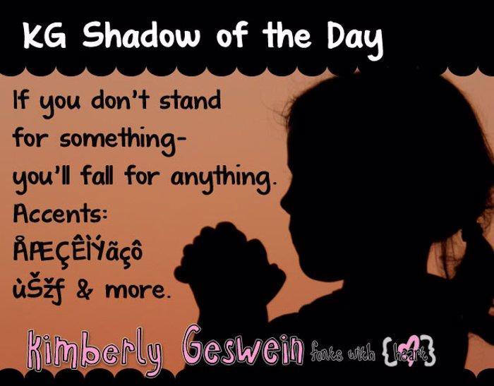 KG Shadow of the Day Font poster