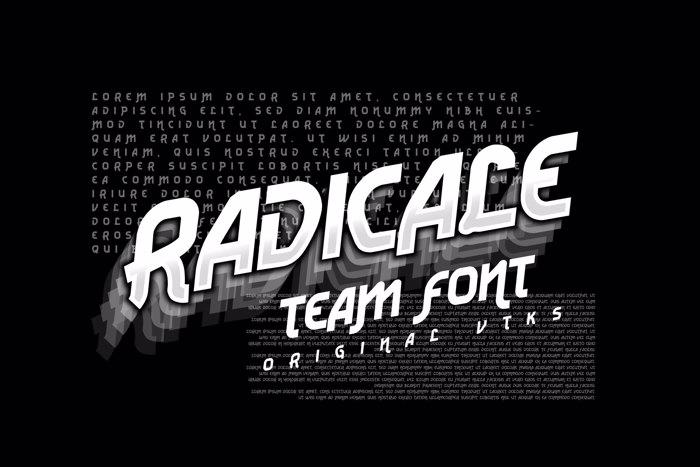 Vtks Radicale v2 Font poster
