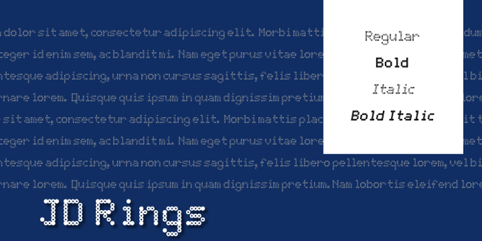 JD Rings Font poster