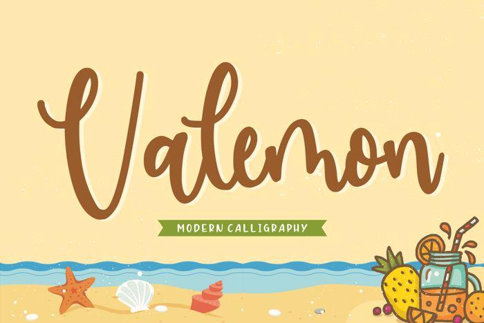 Valemon Font poster