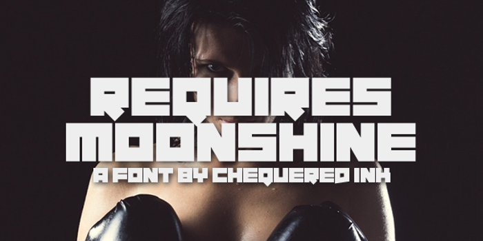 Requires Moonshine Font poster