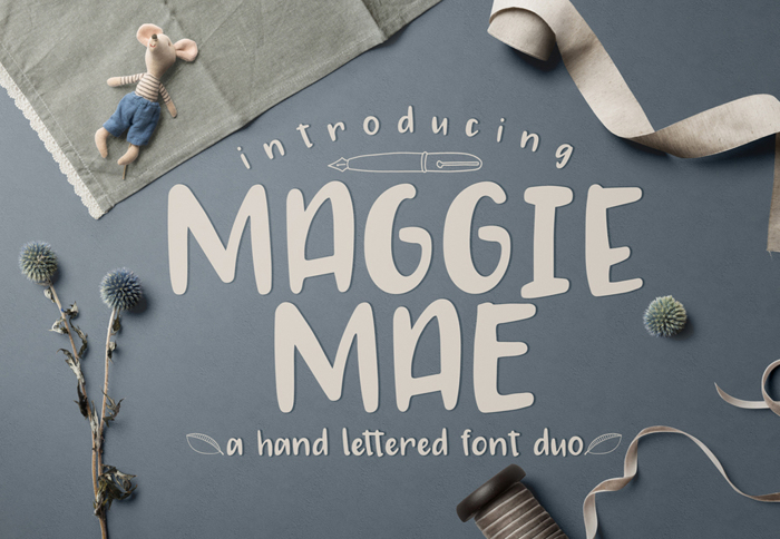 MAGGIE MAE Font poster