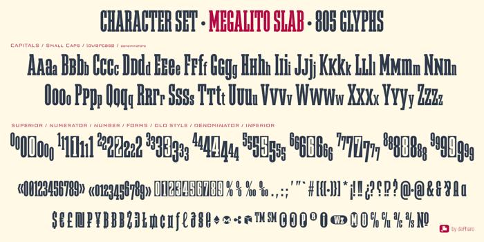 Megalito Slab Font