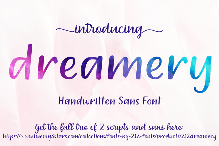 212 Dreamery Sans Font poster