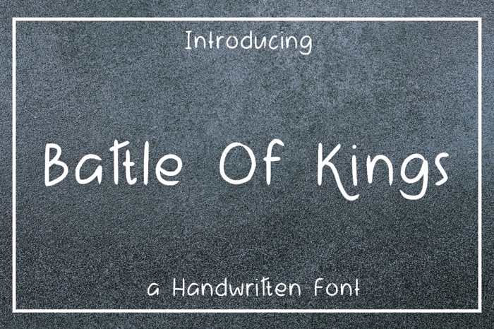 Battle Of Kings Font poster