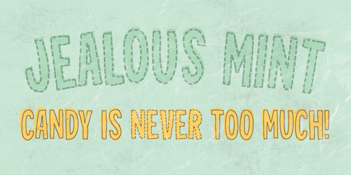 Jealous Mint DEMO Font poster