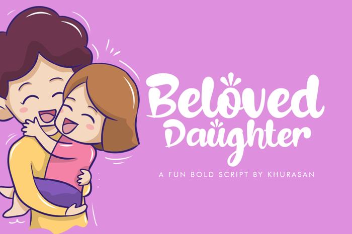 Beloved Daughter Font poster