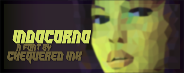 Indocorno Font poster