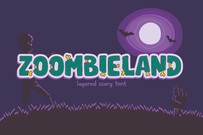 Zoombieland Font poster