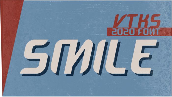 VTKS SMILE Font poster