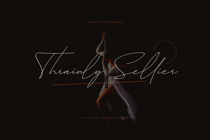 Thrainly Sellier Font poster