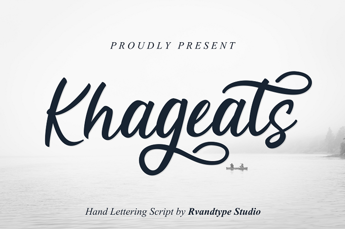 Khageats Font poster