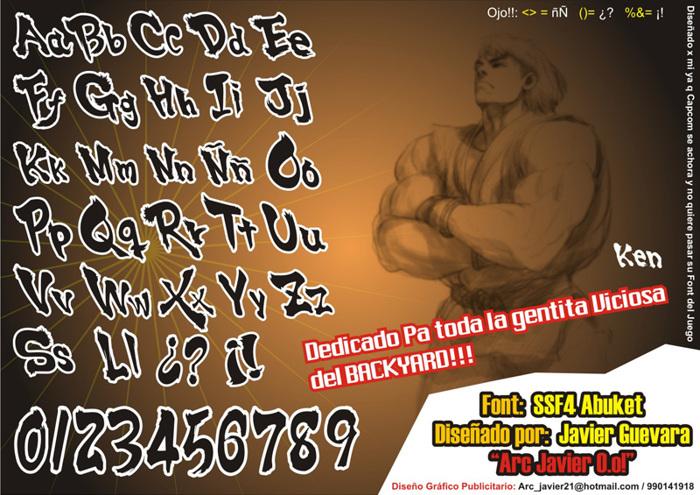 SSF4 ABUKET Font poster