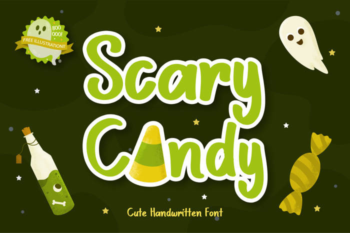 Scary Candy Font poster