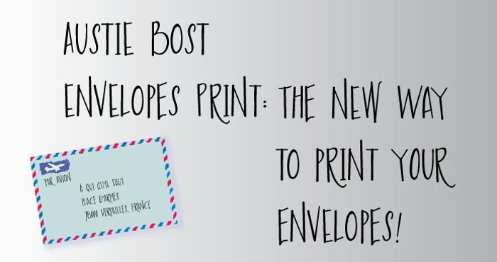 Austie Bost Envelopes Print Font poster