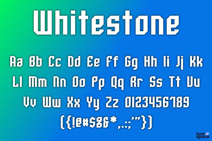 Whitestone Font poster