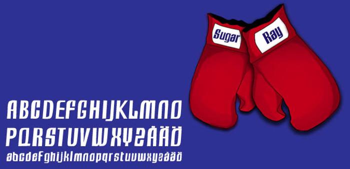 Sugar Ray Font poster