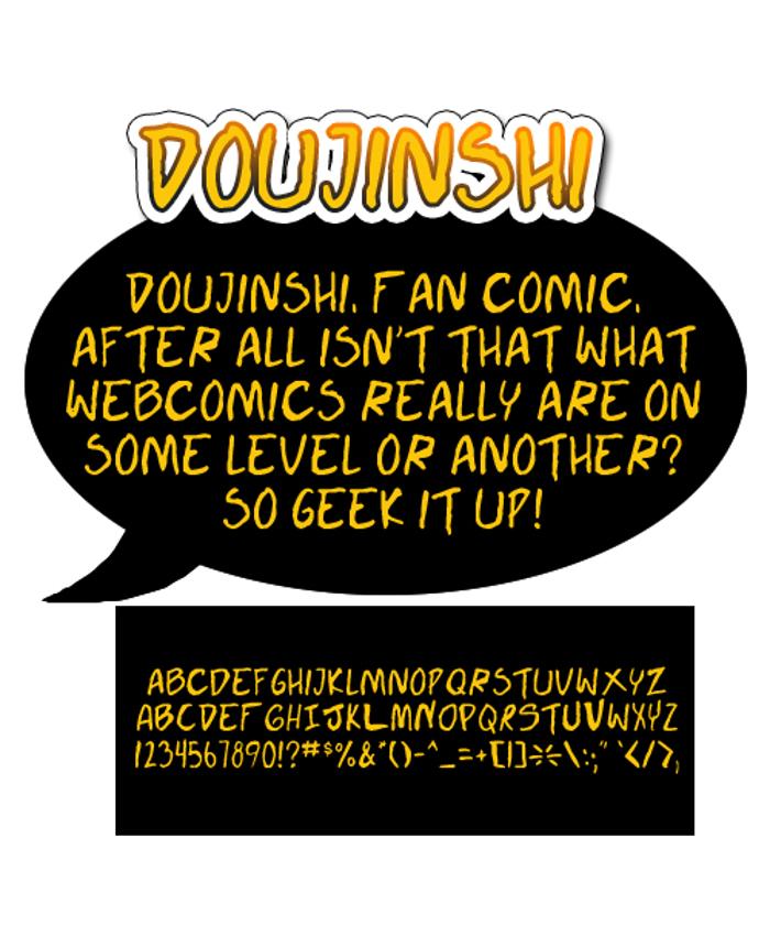 Doujinshi Font poster