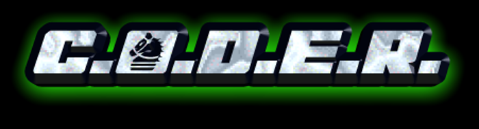 C.O.D.E.R. Font poster
