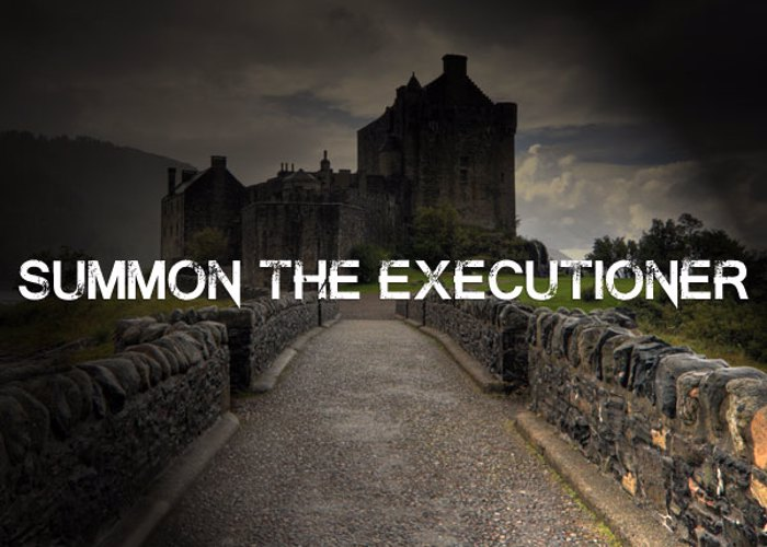 Summon the Executioner Font poster