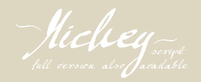 Mickey Script Font poster