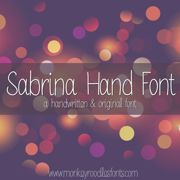 MRF Sabrina Hand Font poster