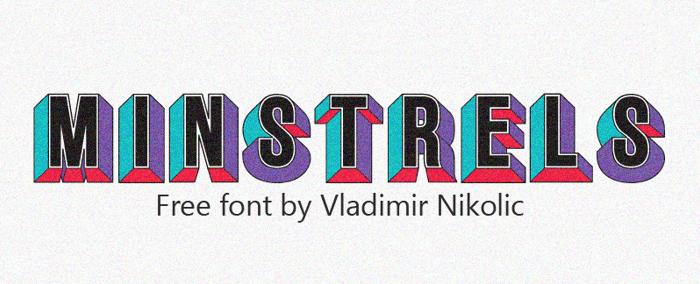 Minstrels Font poster